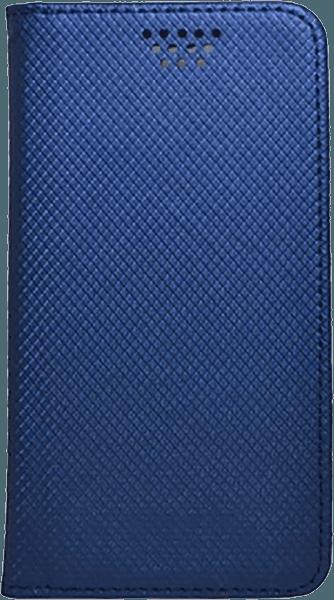 Apple iPhone SE (2020) oldalra nyíló flipes bőrtok csúsztatható, öntapadós rögzítés kék