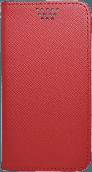 Apple iPhone SE (2020) oldalra nyíló flipes bőrtok csúsztatható, öntapadós rögzítés piros