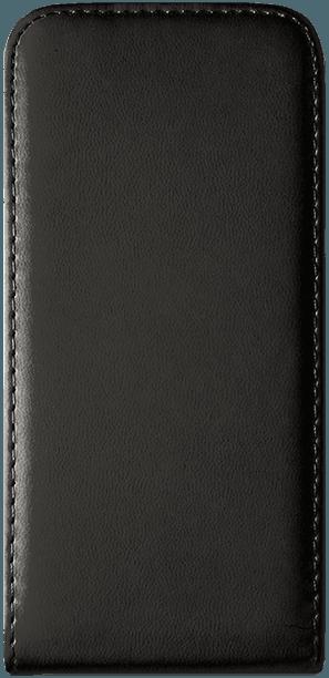 Apple iPhone SE (2020) lenyíló flipes bőrtok fekete