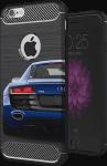 Nokia 8 Dual ütésálló TPU tok szálcsiszolt - karbon minta légpárnás sarok fekete