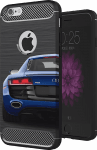 Nokia 8 Dual ütésálló TPU tok szálcsiszolt - karbon minta légpárnás sarok piros