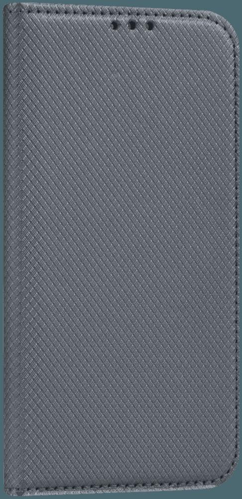 Apple iPhone SE (2020) oldalra nyíló flipes bőrtok rombusz mintás szürke