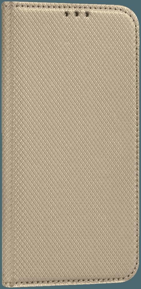 Apple iPhone XS oldalra nyíló flipes bőrtok rombusz mintás arany