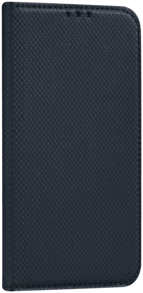 Apple iPhone 11 Pro Max oldalra nyíló flipes bőrtok rombusz mintás fekete