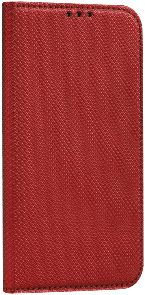 Apple iPhone 6 oldalra nyíló mágneses flipes bőrtok rombusz mintás piros