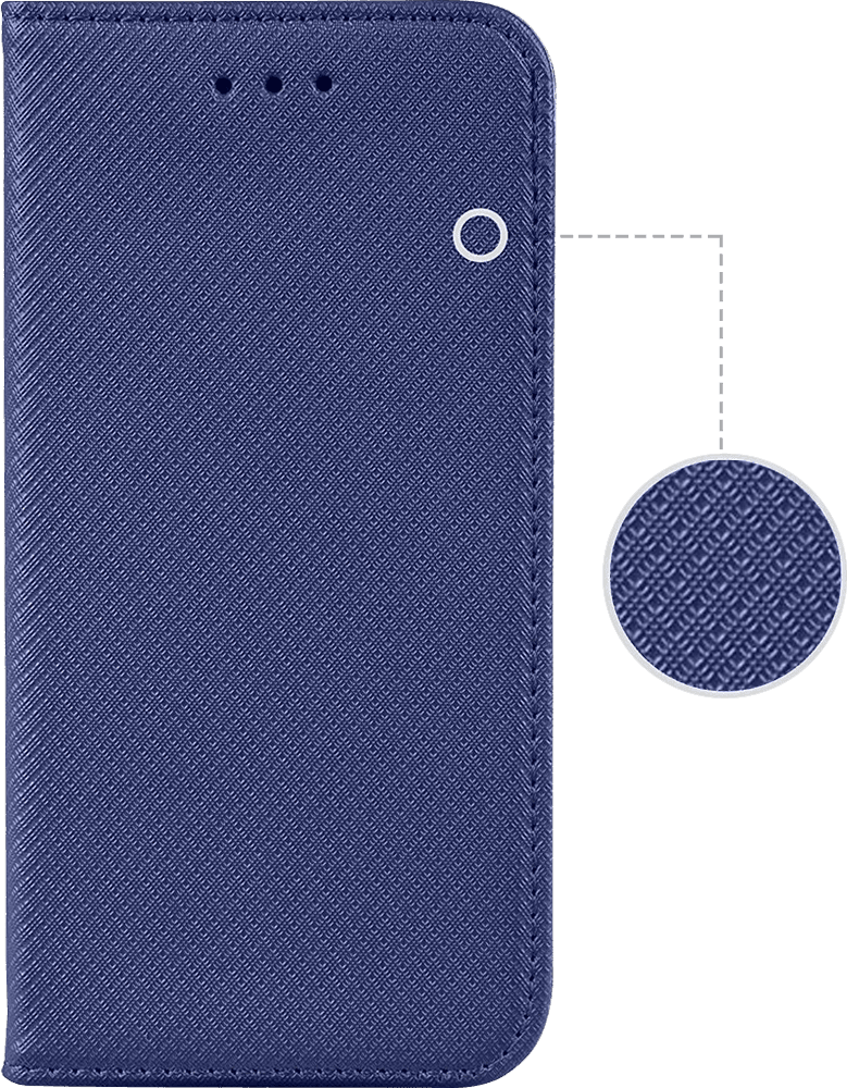 Apple iPhone 6 Plus oldalra nyíló flipes bőrtok rombusz mintás fekete
