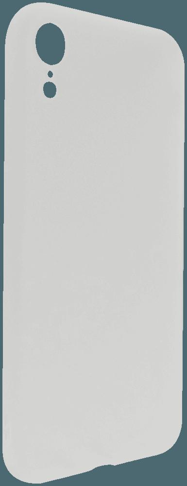 Apple iPhone XR szilikon tok matt tejfehér