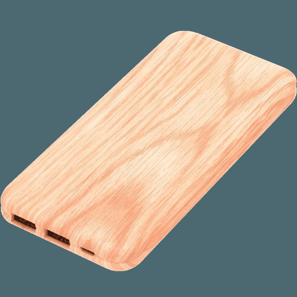 Apple iPhone 5S power bank - külső akkumulátor 10000 mAh világos faminta