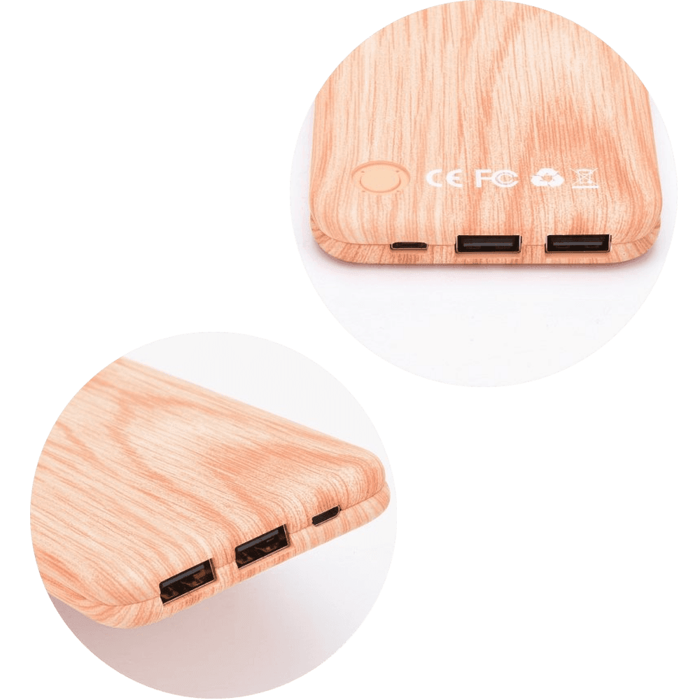 HTC U11 Life power bank - külső akkumulátor 10000 mAh világos faminta