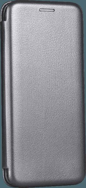 Huawei P40 oldalra nyíló mágneses flipes bőrtok prémium minőség ezüst