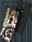 Apple iPhone SE (2020) oldalra nyíló flipes bőrtok elől-hátul mágneses fekete