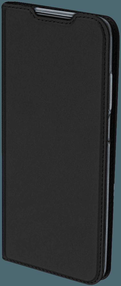 Apple iPhone X oldalra nyíló flipes bőrtok elől-hátul mágneses fekete