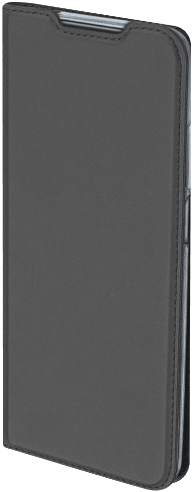 Apple iPhone XR oldalra nyíló flipes bőrtok elől-hátul mágneses szürke