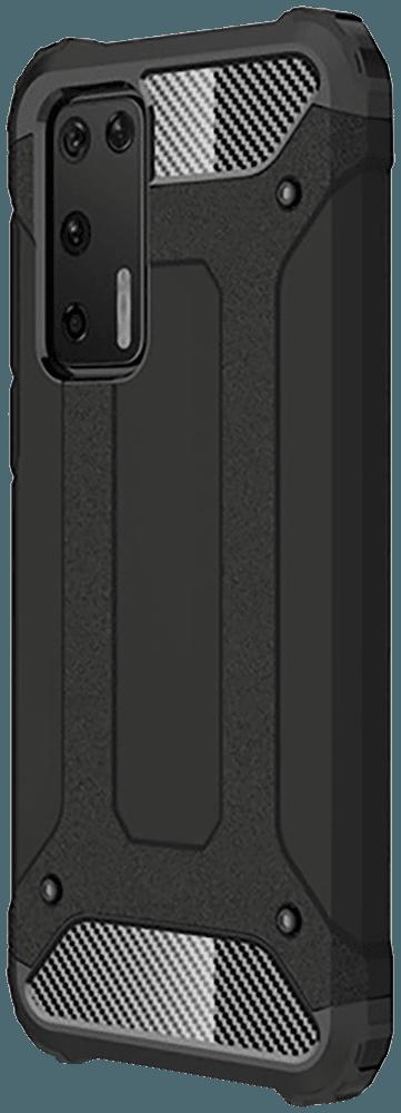 Huawei P40 ütésálló tok légpárnás sarkas, hibrid Forcell Armor fekete
