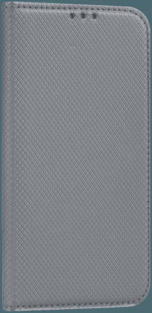 Apple iPhone 6 oldalra nyíló flipes bőrtok rombusz mintás ezüst