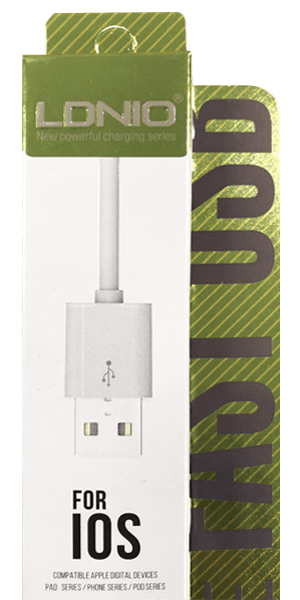 Apple iPhone 12 Pro Prémium Lightning USB adatkábel fehér