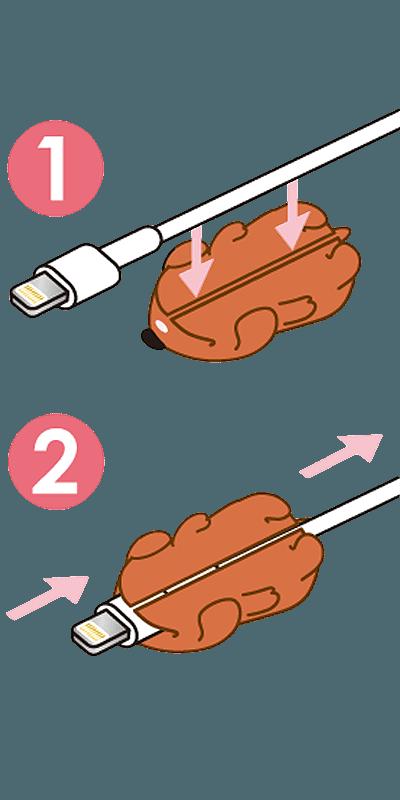Apple iPhone 12 Pro Max kábelvédő jegesmaci