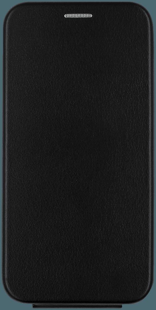 Apple iPhone 12 lenyíló mágneses flipes bőrtok prémium minőség fekete