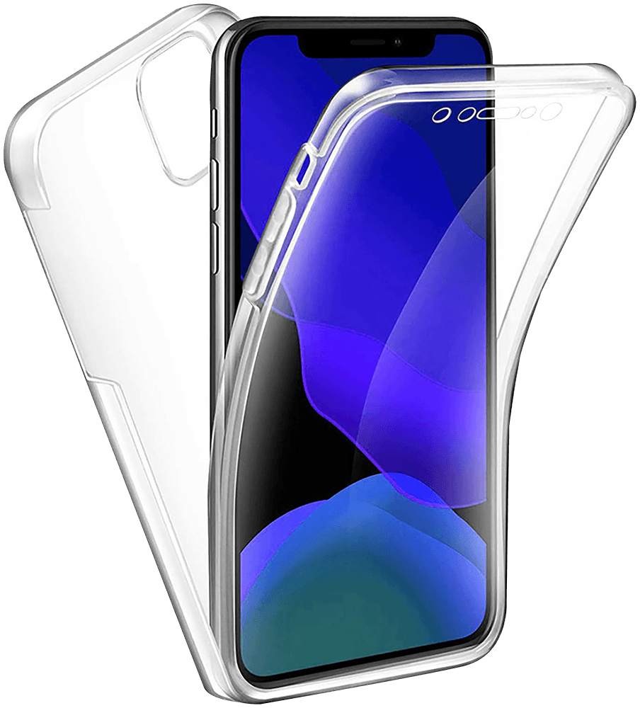 Apple iPhone 12 kemény hátlap szilikon előlap 360° védelem átlátszó