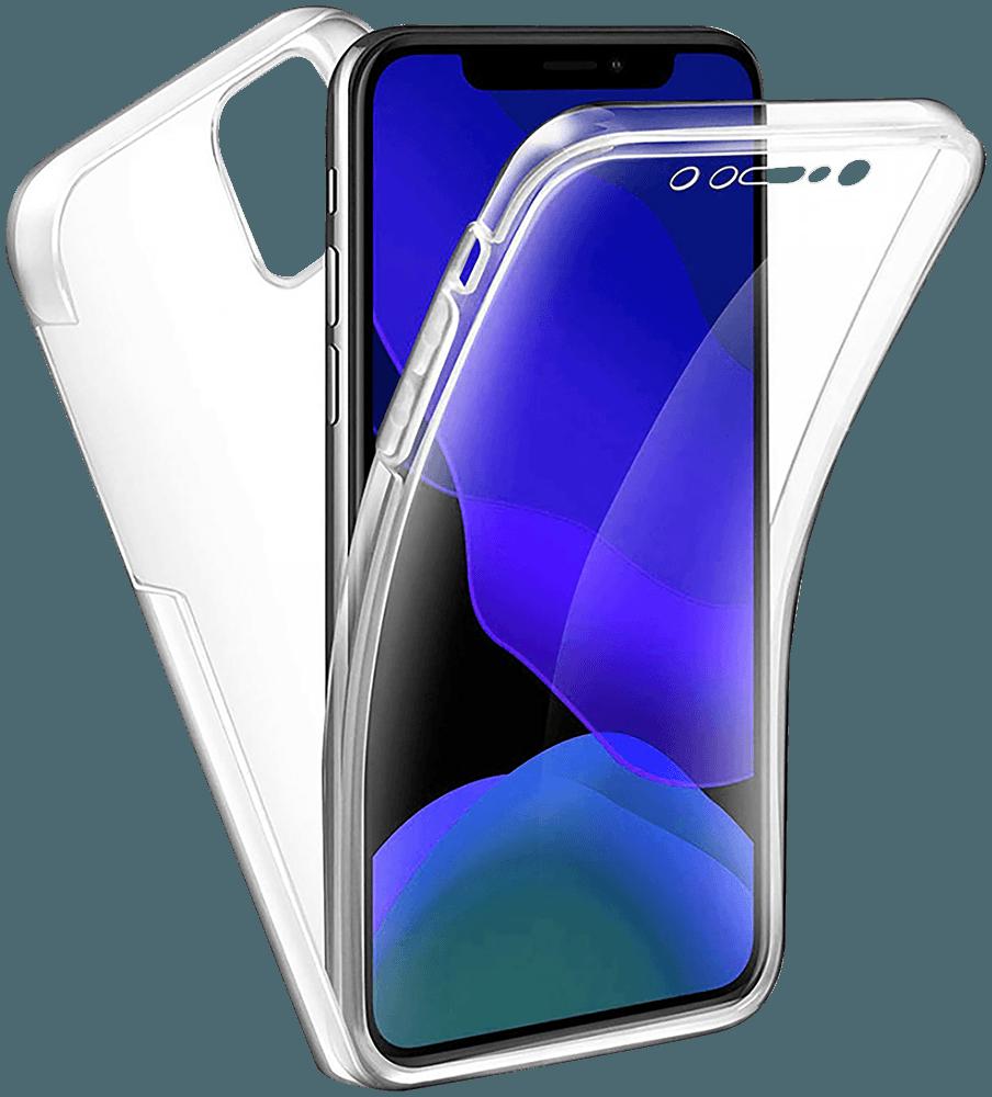 Apple iPhone 12 Pro kemény hátlap szilikon előlap 360° védelem átlátszó