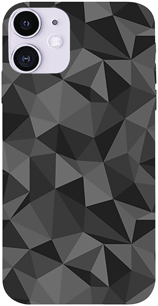 Apple iPhone 11 szilikon tok 3D gyémántmintás fekete