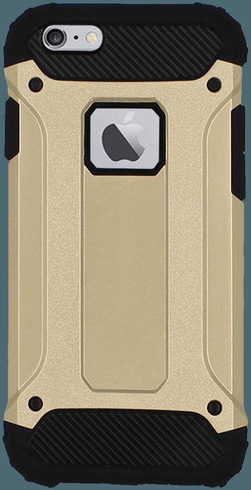 Apple iPhone 6 ütésálló tok gyári SGP logó kihagyós légpárnás sarkas, hibrid Forcell Armor arany