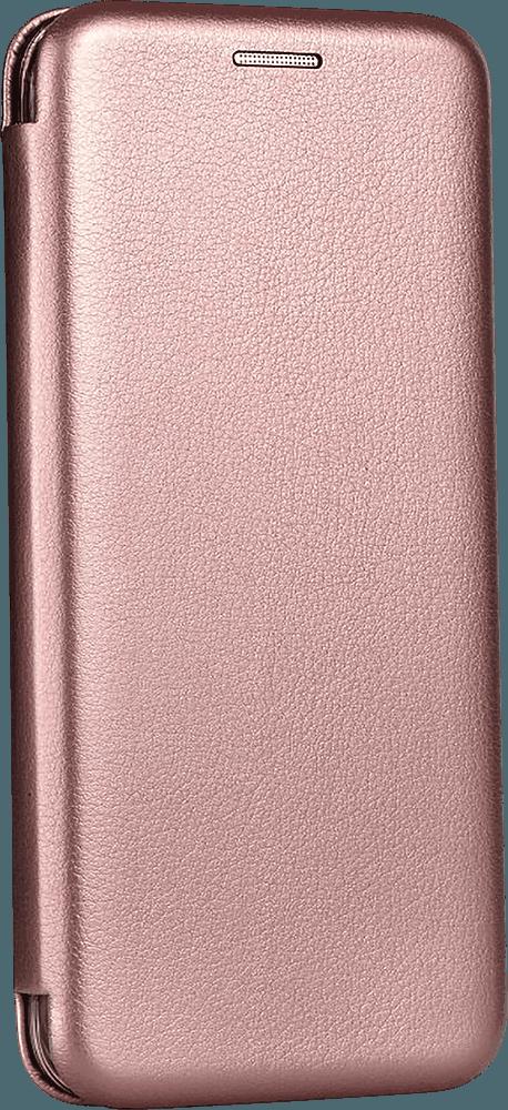 Apple iPhone 12 Pro oldalra nyíló flipes bőrtok prémium minőség rozéarany