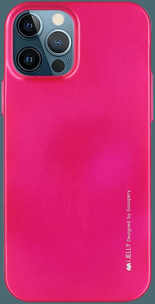 Apple iPhone 12 Pro szilikon tok gyári MERCURYCASE fémhatású rózsaszín