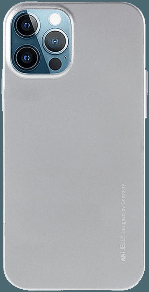 Apple iPhone 12 Pro szilikon tok gyári MERCURYCASE fémhatású ezüst