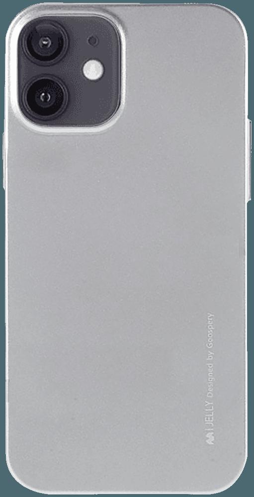 Apple iPhone 12 szilikon tok gyári MERCURYCASE fémhatású ezüst