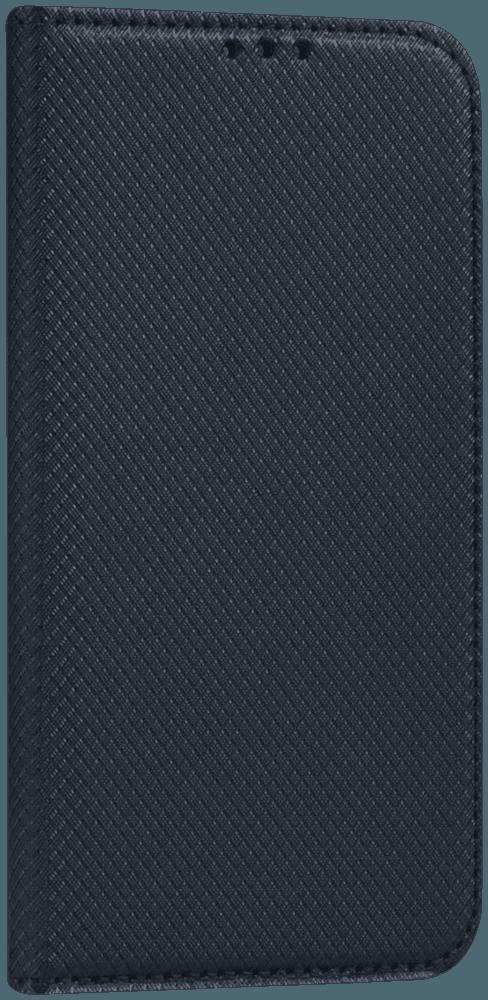 Apple iPhone 12 Mini oldalra nyíló flipes bőrtok rombusz mintás fekete