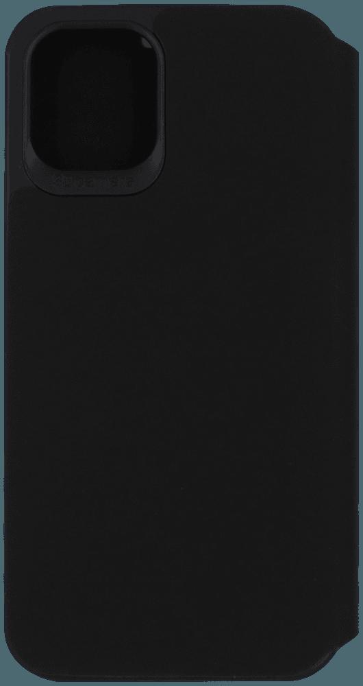 Apple iPhone 12 Mini oldalra nyíló flipes bőrtok bankkártya tartó fekete