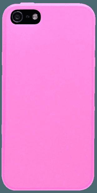 Apple iPhone 5S szilikon tok matt-fényes keret rózsaszín