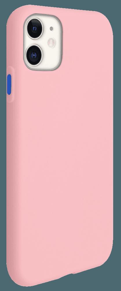 Apple iPhone 11 szilikon tok matt babarózsaszín