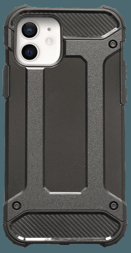Apple iPhone 12 ütésálló tok légpárnás sarkas, hibrid Forcell Armor fekete
