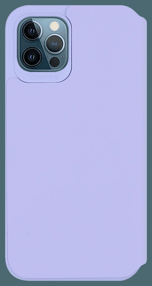Apple iPhone 12 Pro oldalra nyíló flipes bőrtok lila