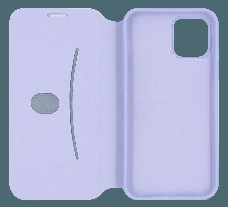 Apple iPhone 12 oldalra nyíló flipes bőrtok lila