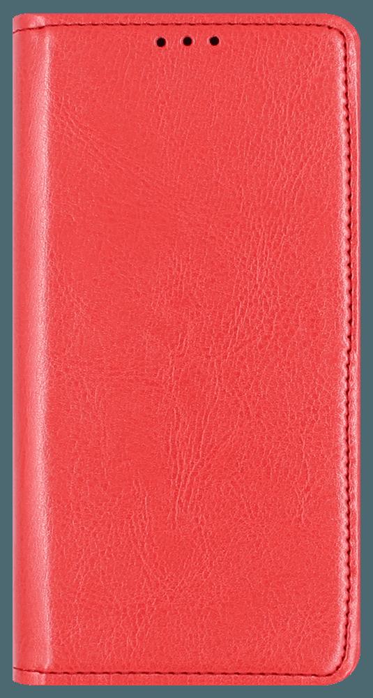Apple iPhone 12 Pro oldalra nyíló flipes bőrtok valódi bőr piros