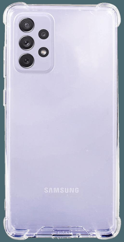 Samsung Galaxy A72 5G (SM-A726B) kemény hátlap gyári ROAR légpárnás sarok átlátszó