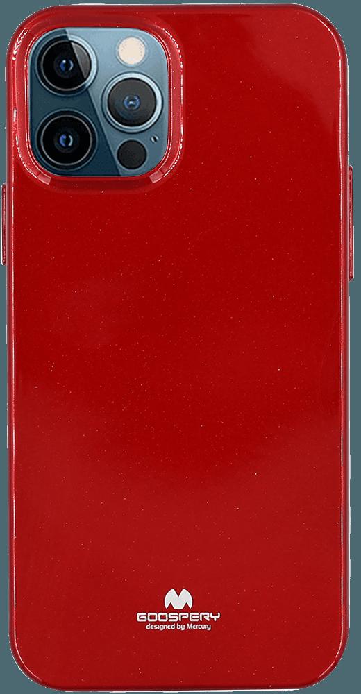 Apple iPhone 12 Pro szilikon tok gyári MERCURYCASE csillogó piros