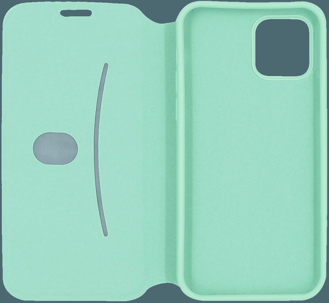 Apple iPhone 12 Pro oldalra nyíló flipes bőrtok bankkártya tartó türkiz