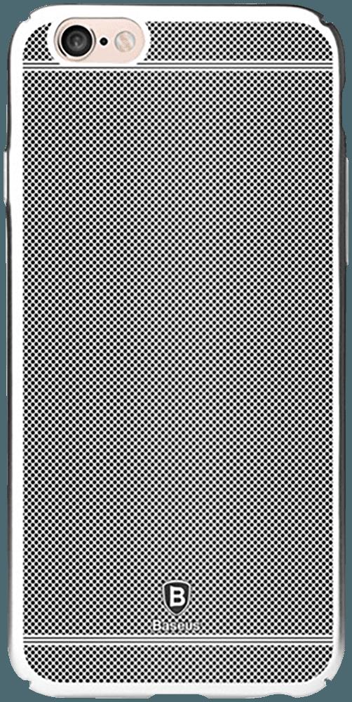 Apple iPhone 6S Plus kemény hátla pgyári BASEUS rács minta ezüst