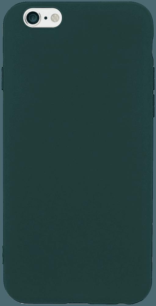 Apple iPhone 6S szilikon tok matt sötétzöld