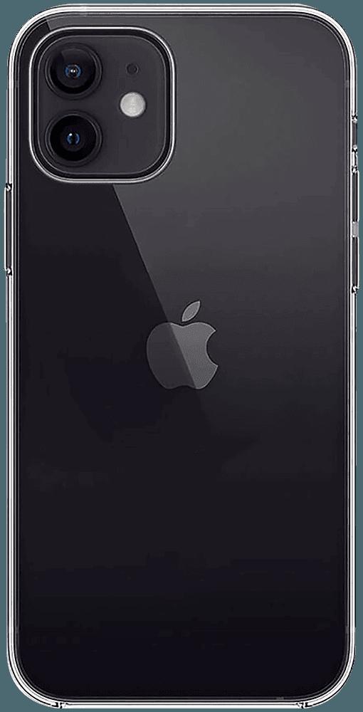 Apple iPhone 12 kemény hátlap szilikon keret átlátszó