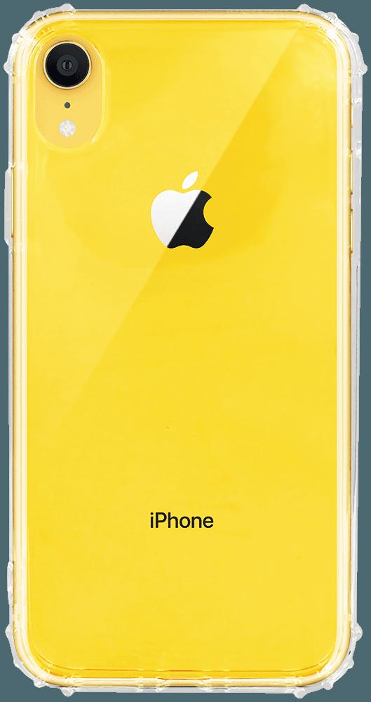 Apple iPhone XR szilikon tok közepesen ütésálló légpárnás sarok  átlátszó átlátszó