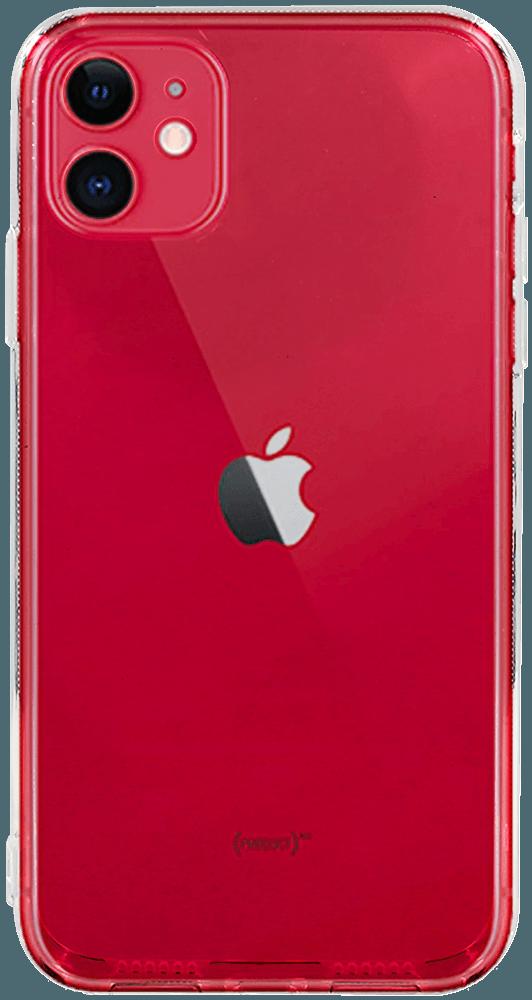 Apple iPhone 11 kemény hátlap szilikon kerettel kameravédővel átlátszó