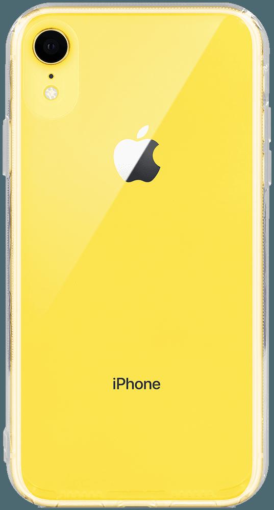 Apple iPhone XR kemény hátlap szilikon kerettel kameravédővel átlátszó