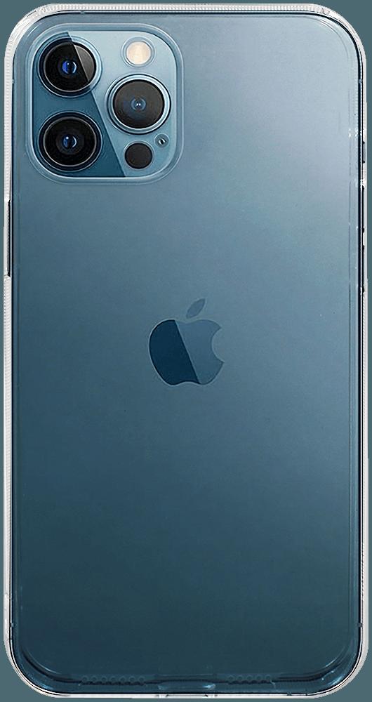 Apple iPhone 12 Pro Max kemény hátlap kameravédővel átlátszó