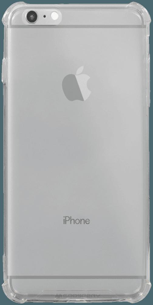 Apple iPhone 6S Plus kemény hátlap szilikon keret gyári MERCURYCASE légpárnás sarok átlátszó