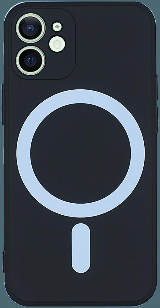 Apple iPhone 12 Mini szilikon tok gyári MagSafe fekete